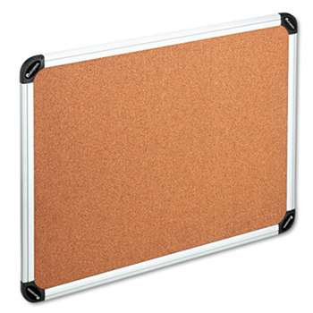 UNIVERSAL OFFICE PRODUCTS Cork Board with Aluminum Frame, 48 x 36, Natural, Silver Frame