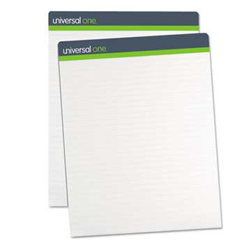 UNIVERSAL OFFICE PRODUCTS Sugarcane Based Easel Pads, 1 Inch Rule, 27 x 34, White, 50 Sheets, 2/Pack