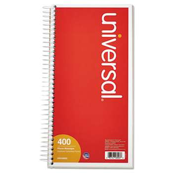 UNIVERSAL OFFICE PRODUCTS Wirebound Message Books, 5 x 3 3/8, Two-Part Carbonless, 400 Sets/Book