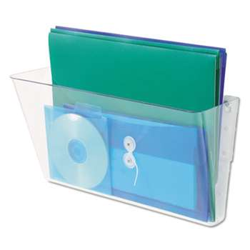 UNIVERSAL OFFICE PRODUCTS Add-on Pocket for Wall File, Letter, Clear