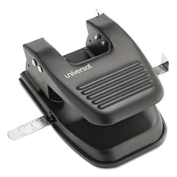 "UNIVERSAL OFFICE PRODUCTS 30-Sheet Two-Hole Punch, 9/32"" Holes, Black"