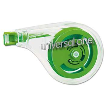 "UNIVERSAL OFFICE PRODUCTS Sideways Application Correction Tape, 1/5"" x 393"", 6/Pack"