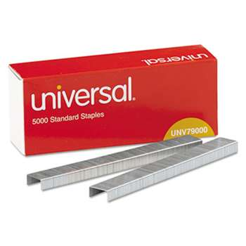 UNIVERSAL OFFICE PRODUCTS Standard Chisel Point 210 Strip Count Staples, 5,000/Box, 5 Boxes per Pack