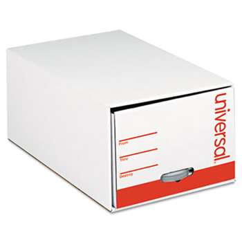 "UNIVERSAL OFFICE PRODUCTS Storage Box Drawer Files, Letter, Fiberboard, 12"" x 24"" x 10"", White, 6/Carton"