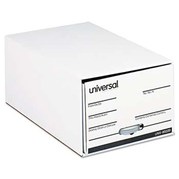 "UNIVERSAL OFFICE PRODUCTS Storage Box Drawer Files, Legal, Fiberboard, 15"" x 24"" x 10"", White, 6/Carton"