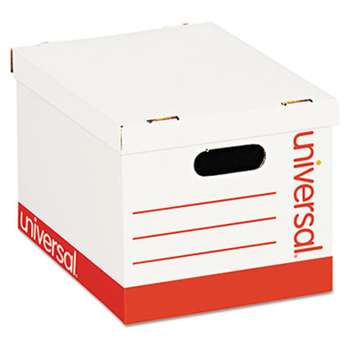 UNIVERSAL OFFICE PRODUCTS Economy Storage Box, Lift-Off Lid, Letter/Legal. White, 12/Ct