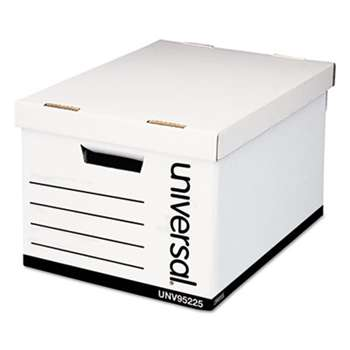 UNIVERSAL OFFICE PRODUCTS Extra-Strength Storage Box, Letter/Legal, 12 x 15 x 10, White, 12/Carton