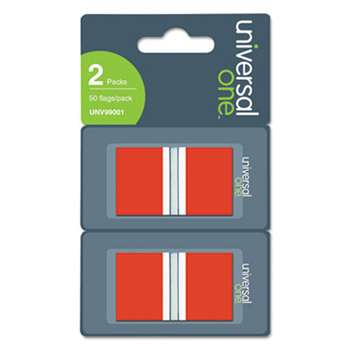 UNIVERSAL OFFICE PRODUCTS Page Flags, Red, 2 Dispensers of 50 Flags/Pack