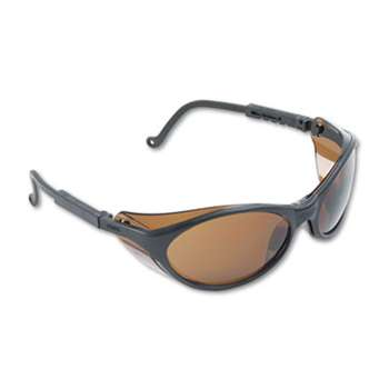 HONEYWELL ENVIRONMENTAL Bandit Wraparound Safety Glasses, Black Nylon Frame, Espresso Lens