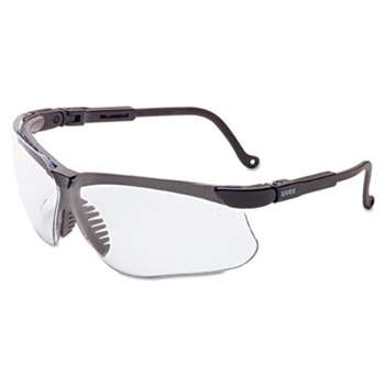 HONEYWELL ENVIRONMENTAL Genesis Safety Eyewear, Black Frame, Clear Lens
