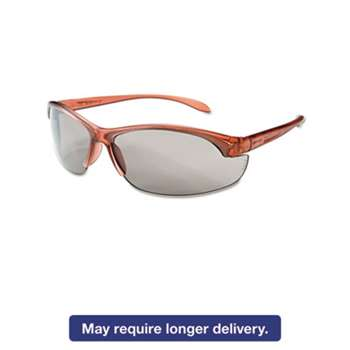 HONEYWELL ENVIRONMENTAL Women's Eyewear, Dusty Rose Frame, TSR-Gray Anti-Scratch Lens, One Size, 10/Box