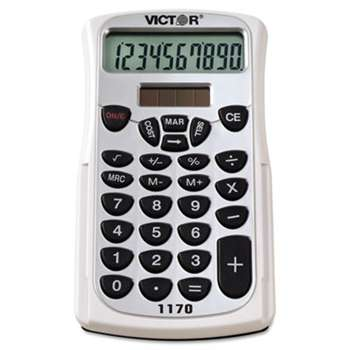 VICTOR TECHNOLOGIES 1170 Handheld Business Calculator w/Slide Case, 10-Digit LCD