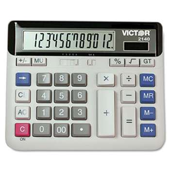 VICTOR TECHNOLOGIES 2140 Desktop Business Calculator, 12-Digit LCD
