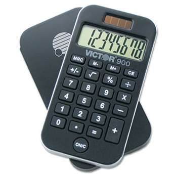 VICTOR TECHNOLOGIES 900 Antimicrobial Pocket Calculator, 8-Digit LCD