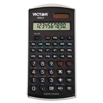 VICTOR TECHNOLOGIES 930-2 Scientific Calculator, 10-Digit LCD