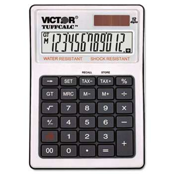 VICTOR TECHNOLOGIES TUFFCALC Desktop Calculator, 12-Digit LCD