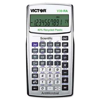 VICTOR TECHNOLOGIES V30RA Scientific Recycled Calculator w/Antimicrobial Protection