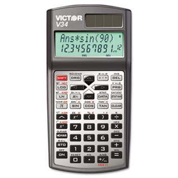 VICTOR TECHNOLOGIES V34 Advanced Scientific Calculator, 10-Digit LCD