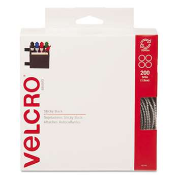 VELCRO USA, INC. Sticky-Back Hook and Loop Dot Fasteners, Dispenser, 3/4 Inch, Beige, 200/Roll