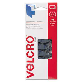VELCRO USA, INC. Oval Hook and Loop Fasteners, 7 1/4 x 3, Black, 40/Pack