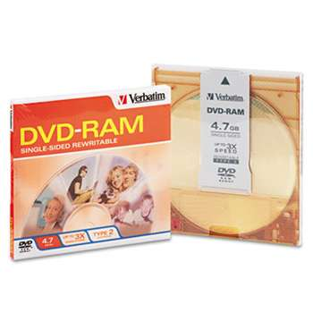 VERBATIM CORPORATION Type 4 DVD-RAM Cartridge, 4.7GB, 3x