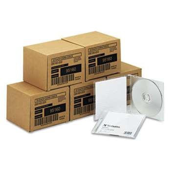 VERBATIM CORPORATION CD-RW Discs, 700MB/80min, 4x, w/Slim Jewel Cases, Silver, 100/Carton