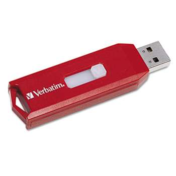 VERBATIM CORPORATION Store 'n' Go USB 2.0 Flash Drive, 32GB, Red