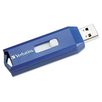 VERBATIM CORPORATION Classic USB 2.0 Flash Drive, 2GB, Blue