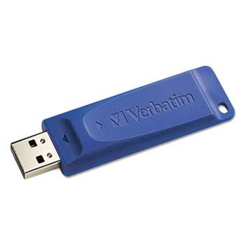 VERBATIM CORPORATION Classic USB 2.0 Flash Drive, 16GB, Blue