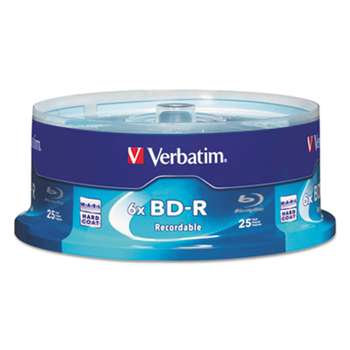 VERBATIM CORPORATION BD-R Blu-Ray Disc, 25GB, 6x, 25/Pk