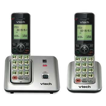 VTECH COMMUNICATIONS CS6619-2 Cordless Phone System, Base and 1 Additional Handset