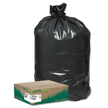 WEBSTER INDUSTRIES Recycled Large Trash and Yard Bags, 33gal, .9mil, 32.5 x 40, Black, 80/Carton