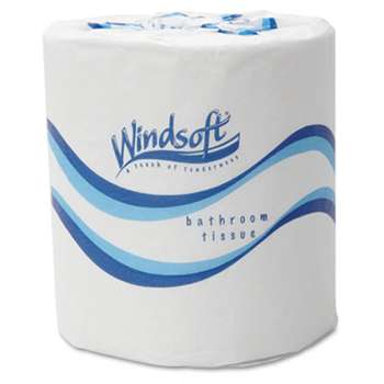 Windsoft 2405 Embossed Bath Tissue, 2-Ply, 500 Sheets/Roll, 48 Rolls/Carton