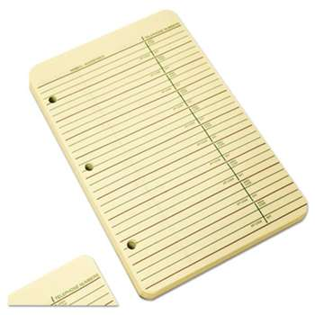 WILSON JONES CO. Looseleaf Phone/Address Book Refill, 5 1/2 x 8 1/2, 80 Sheets