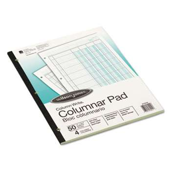 WILSON JONES CO. Accounting Pad, Four Eight-Unit Columns, Two-sided, Letter, 50-Sheet Pad