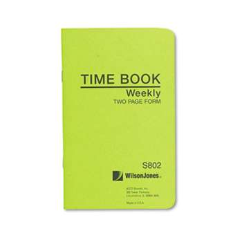 WILSON JONES CO. Foreman's Time Book, Week Ending, 4-1/8 x 6-3/4, 36-Page Book
