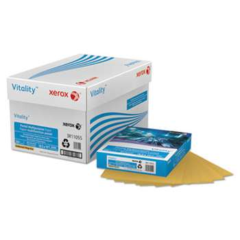 XEROX CORP. Vitality Pastel Multipurpose Paper, 8 1/2 x 11, Gold, 500 Sheets/RM