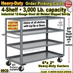 88CD / 4-Shelf Steel Stock Transport Truck