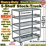 88CG / 5-Shelf MESH Shelf Truck