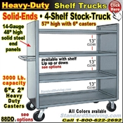 88DD / 4-Shelf SOLID-ENDS Stock Transport Truck