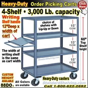 88DO / 4-Shelf Order Picking Truck with writing shelf