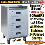 88YF / Stainless Steel Mobile Carts