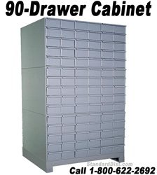 90-DRAWER STEEL CABINET (DM90A) DURHAM
