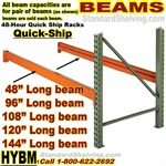 Pallet Rack BEAMS, Quick-Ship / HYBM
