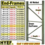 Pallet Rack End-Frames, Quick-Ship / HYEF
