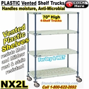 Vented Plastic 4-Shelf Trucks / NX2L
