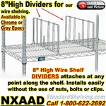 DIVIDERS for Wire Shelving / NXAAD