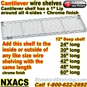 Cantilever Wire Shelves / NXACS