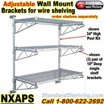 Adjustable Wall Mount for Wire Shelving / NXAPS
