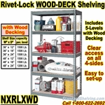 Wood-Deck Industrial Rivet Shelving / NXRLXWD